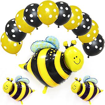 Party birthday celebration balloons decorations ladybug bee silver foil
