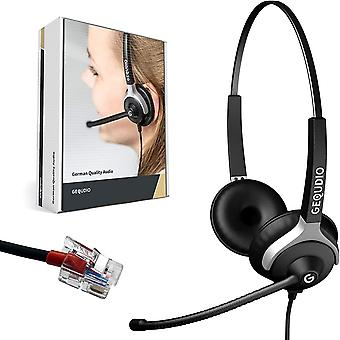 FengChun Headset für Telefon, kompatibel mit Yealink, Avaya, Grandstream - inklusive RJ Kabel -
