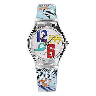 نشط Act-003 كوارتز ساعة اليد، التناظرية، للجنسين الأطفال، البلاستيك، الأحمر / الأزرق