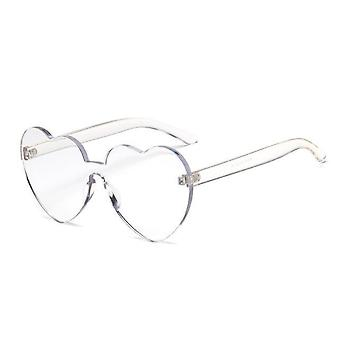 Nieuwe mode schattige sexy retro liefde hart randloze zonnebril Uv400