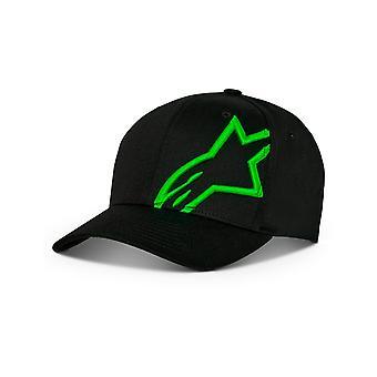 Alpinestars Corp Snap Cap in Black/Green