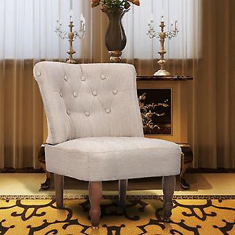 tessuto crema per sedie francese vidaXL