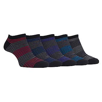 5 Pk mens lightweight casual cotton ankle socks