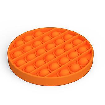 2Pcs جولة شكل البرتقال دفع البوب الإجهاد تخفيف السيليكون لعبة تململ az6355