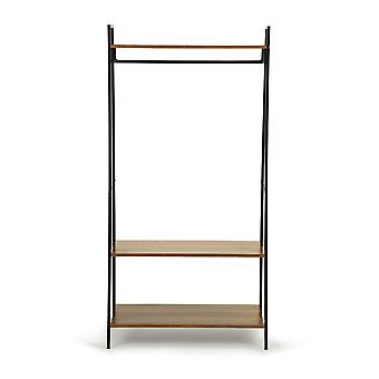 Clothes rack with 3 shelves 80 x 40 x 160,5 cm – Steel & Wood