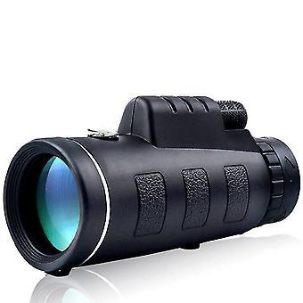 IPRee 40X60アップグレードされた屋外単眼コンパスHDの光学低照度の夜視望遠鏡 WS39817
