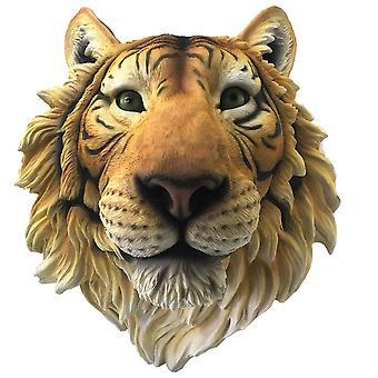 Rajah Tiger Head Wall Plaque