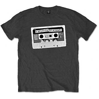 5 Seconds of Summer Tape Mens Charcoal T Shirt: XX-Large