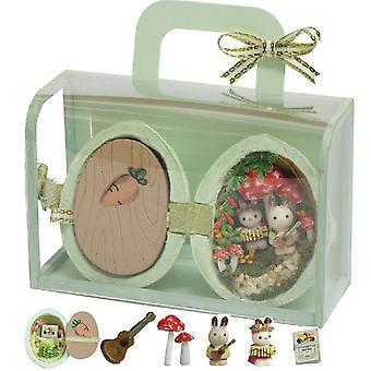 Cutebee fai-da-te bambola di legno casa bambola case in miniatura bambola casa mobili kit casa musica led giocattoli per bambini regalo di compleanno