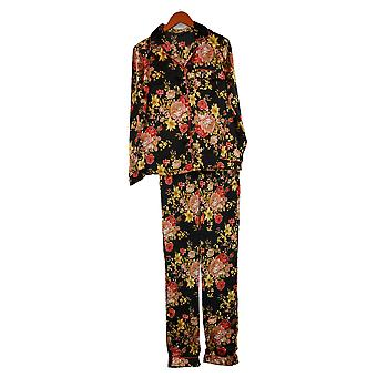 Tolani Collection Women's (XXS) Printed Pajama Set Black A390127