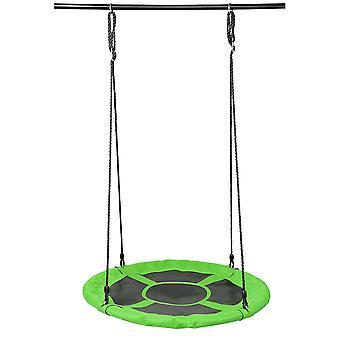 Green  round swing toy outdoor courtyard garden for kids homi3731