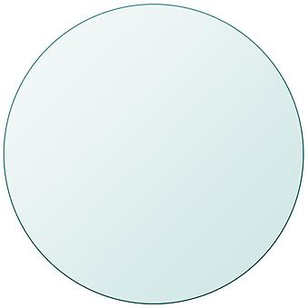 vidaXL table top in tempered glass round 500 mm