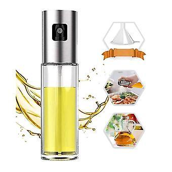 Oil Sprayer For Cooking 304 Stainless Steel Oil Spray Bottle Baking Roasting Grilling(Cylindrical)