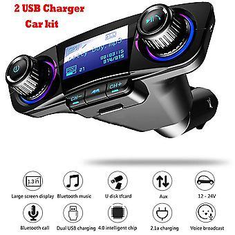 سيارة FM الإرسال كيت اللاسلكية بلوتوث يدوي MP3 مشغل USB شاحن AUX