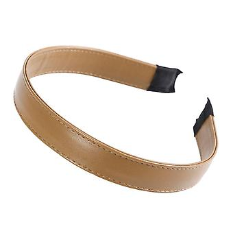 3PCS  Simple Women's Faux Leather Headband Solid Elegant Wide PU Leather Hairbands 2.5cm Wide Hair