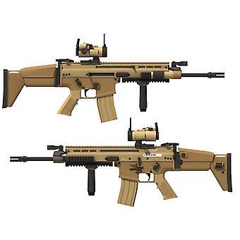 ندبة قناص بندقية 3D ورقة بطاقة