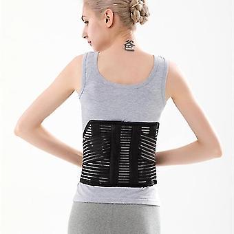 High quality medical sport adjustable waist trimmer trainer back brace support belt(M)(Black)