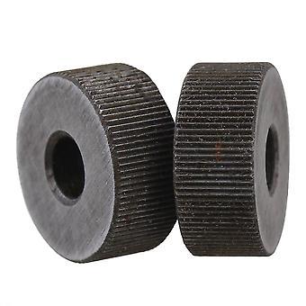 Pulleys, blocks sheaves 2 pcs steel single straight coarse 0.6mm pitch linear knurling wheel 19mm dia