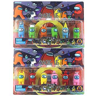 6PCS/Set Among Us Action Figures Collection Plastic Dolls Game Toy For Kid Gifts