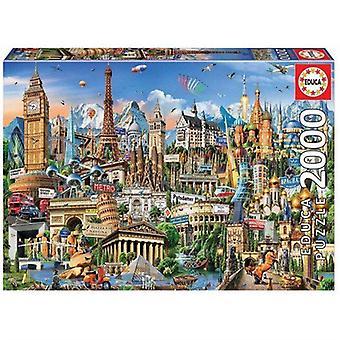 Educa European Landmarks 2000Pc Jigsaw Puzzle