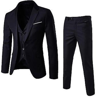 Casual Slim-fit Suit Jacket / Vest/ Trouser