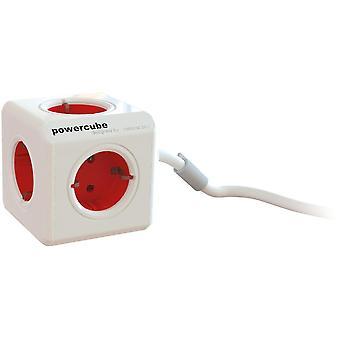 PowerCube Extended 5 zásuvka 1,5m, červená