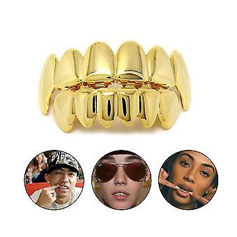 Hip Hop Hammasraudat Top & Bottom Teeth Grill Bling Teeth Set Party Lahja