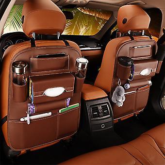 Автомобильное сиденье Задняя часть Органайзер Сумка Для хранения Многокарманный Pu Кожаный Протектор заднего сиденья