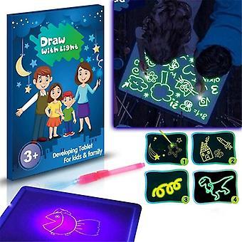 Planche à dessin lumineuse magique avec stylo fluorescent pour enfants