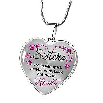 Colier din oțel inoxidabil Sora Inima Piersic Heart Aliaj Pandantiv Bijuterii Inima