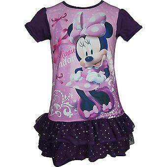 Vestido de manga corta de niñas Disney Minnie Mouse