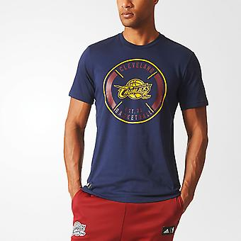 ADIDAS cleveland cavaliers basket climalite bomull t-shirt [navy]