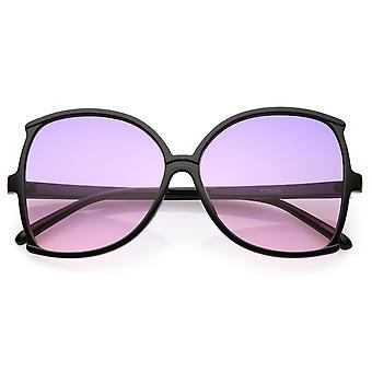 Oversize Butterfly Sonnenbrille Frauen schlanke Arme Farbe getönt Linse 61mm