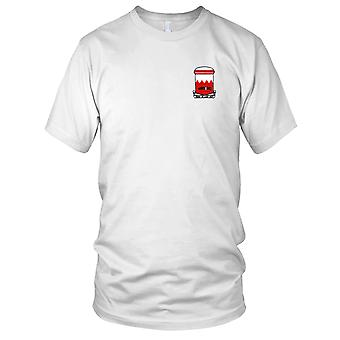 US Army - 65th Engineer Battalion Embroidered Patch - Mens T Shirt