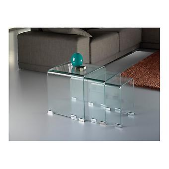 Schuller Glass Clear Nesting Tables