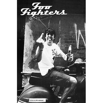 Foo Fighters палец Плакат Плакат Печать
