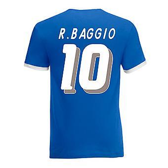 Roberto Baggio Taliansko Ringer tee (modrá)