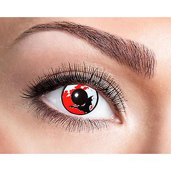 Bat lune contact Halloween lentilles