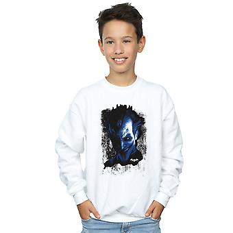 DC Comics Boys Batman Arkham Asylum Joker Face Texture Sweatshirt