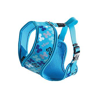 Rogz Lapz Trendy Wrapz Comfort Dog Harness, Blue Bones