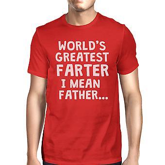 Onnellinen perhe farter isä miesten punainen suosittu söpö sarjakuva T t-paita