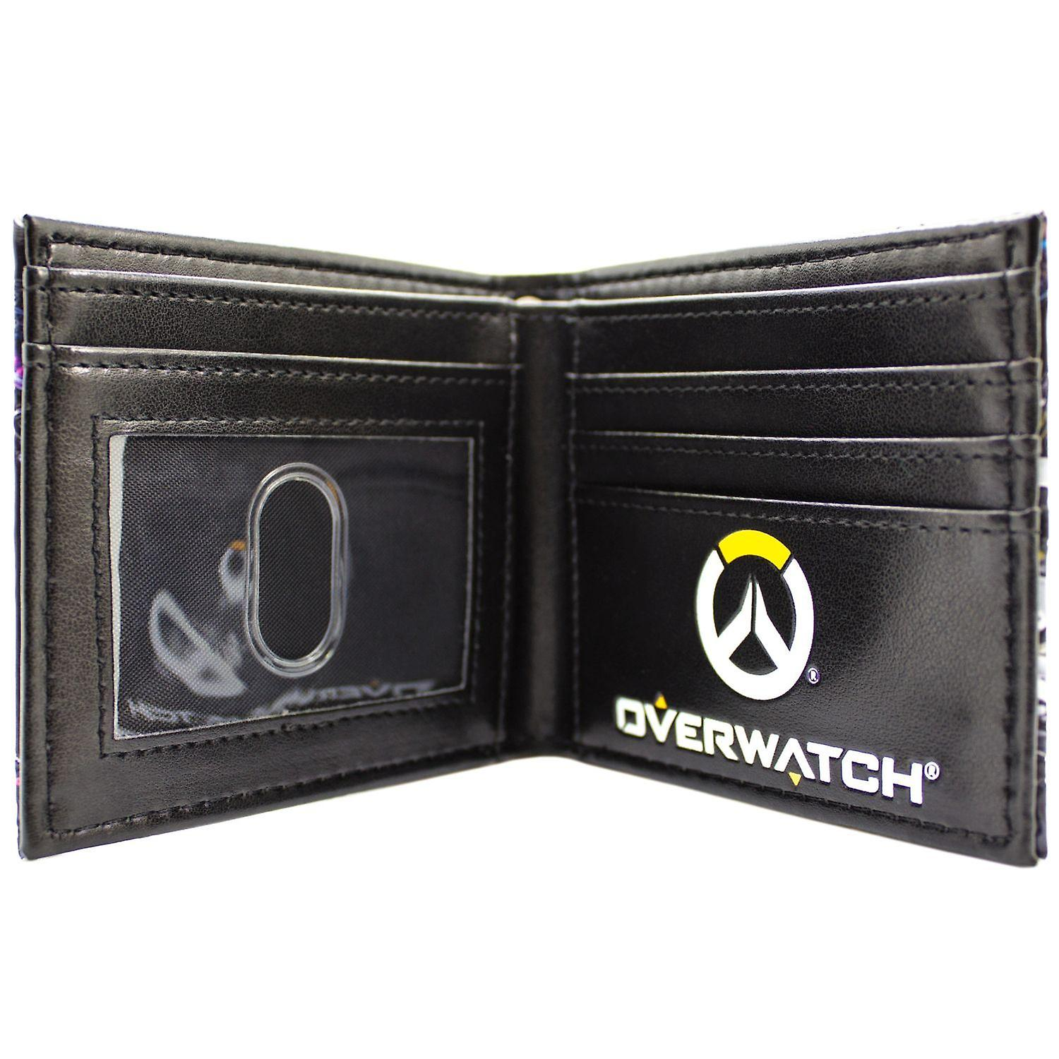 NEW OFFICIAL OVERWATCH EMBOSSED TRACER /& WINSTON BLACK ID /& CARD BI-FOLD WALLET