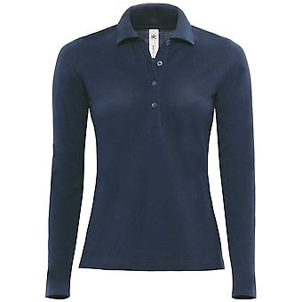 B&C Ladies Safran long-sleeved polo shirt