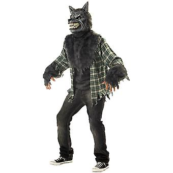 Full Moon Madness Werewolf Wolfman Horror Monster Halloween Men Costume