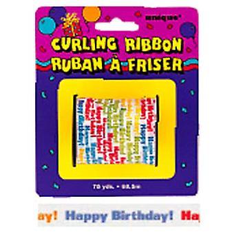 Curling nauha selitteet syntymäpäivä pieni rulla