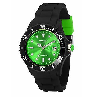 Candy tijd door Madison N.Y.. horloge unisex U4486-10-1 groen