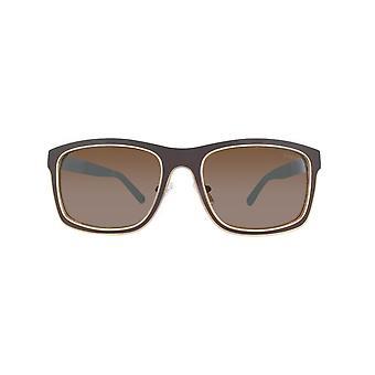 Guess zonnebrillen GU6849-49 G-56 mat DONKERBRUIN / bruin spiegel