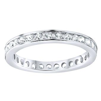 Sterling 925 Silver eternity ring - 3mm channel set
