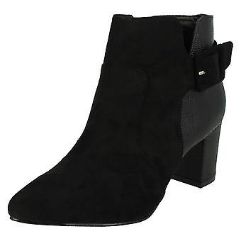 Le signore Anne Michelle bloccato Heel Ankle Boots F50551