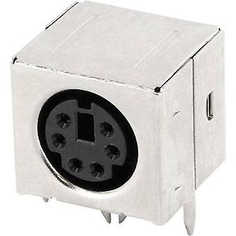 ECON sluit MDIOB6G Mini DIN stekker type a Socket, horizontale mount aantal pins: 6 zwart 1 PC('s)